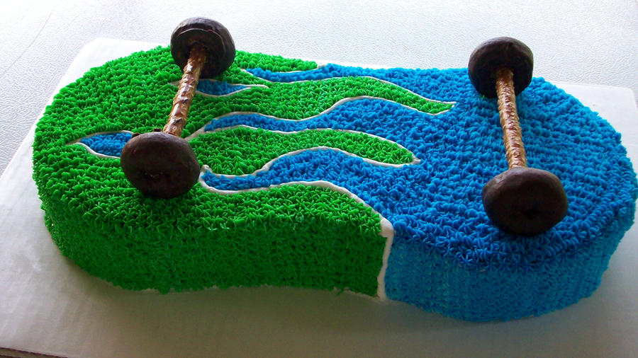 Cake Art Reddit : Skateboard Cake by pyxiestix on DeviantArt