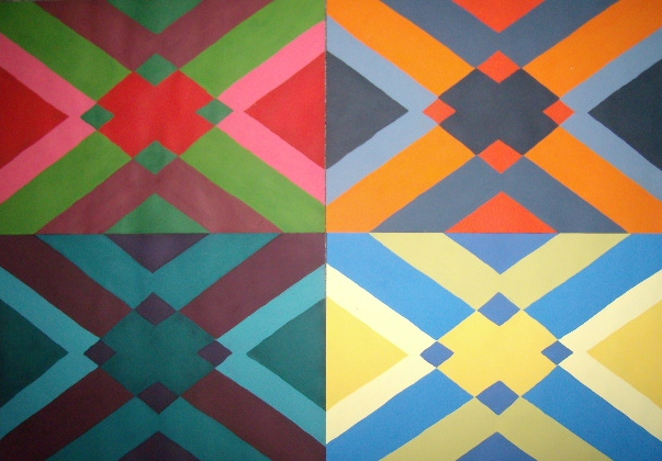 Geometric pattern painting by littleaprilflame on deviantart Painting geometric patterns on walls