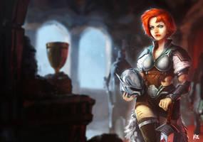 Knight girl by zarrad