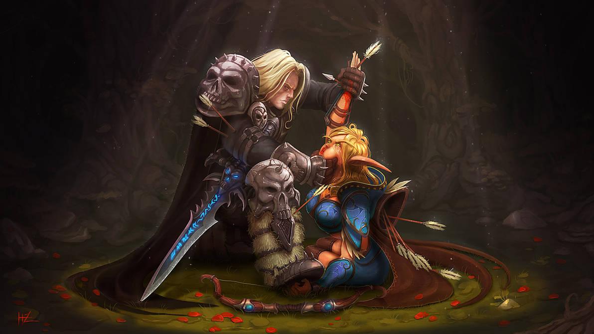 Warcraft 3 : Arthas Vs Sylvanas by zarrad
