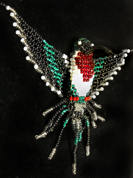 Hummingbird Seed Bead Necklace by Line-of-Birds
