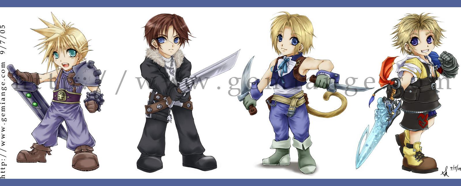 +Final Fantasy Chibi Heros+ by gemiange