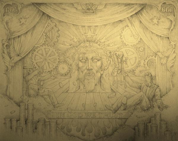 Gold Plated Politics (sketch) by bauderart