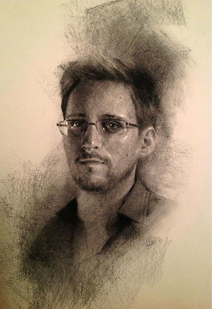 Edward Snowden by bauderart