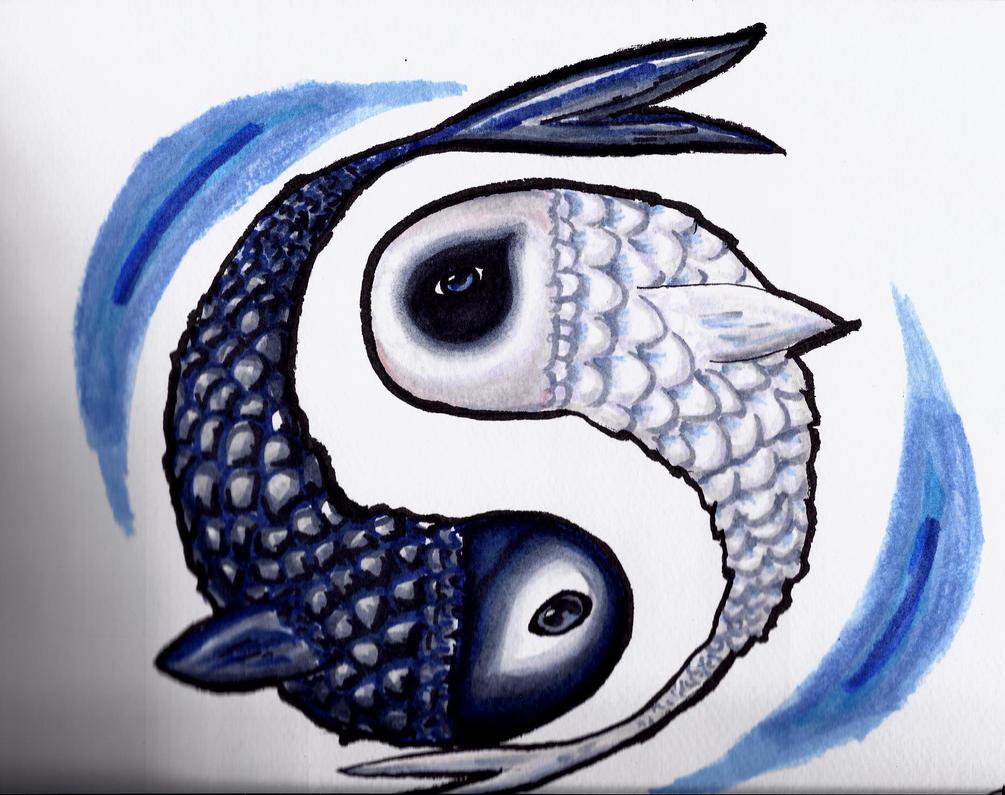 yin yang fish by unique8 on deviantart. Black Bedroom Furniture Sets. Home Design Ideas