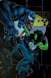 She Hulk vs Venom by CarlChrappa