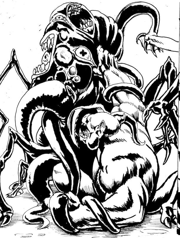 Behemoth issue sample art by CarlChrappa