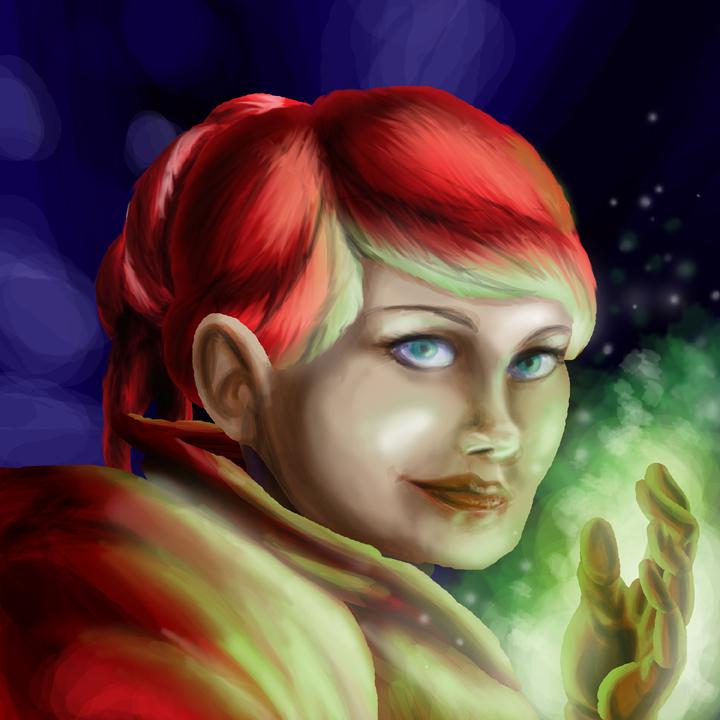 Dwarf Mage Portrait by CarlChrappa