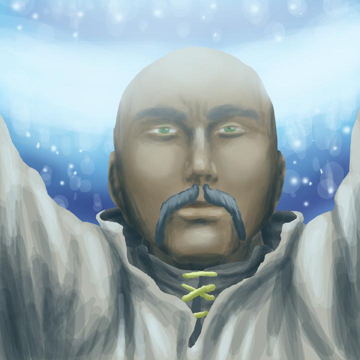 Human Cleric Portrait by CarlChrappa