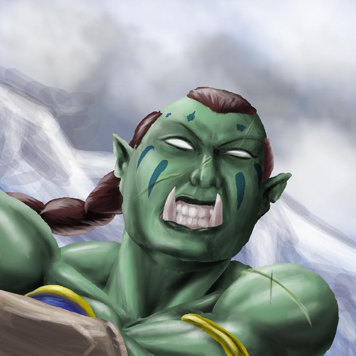 Orc Warrior by CarlChrappa