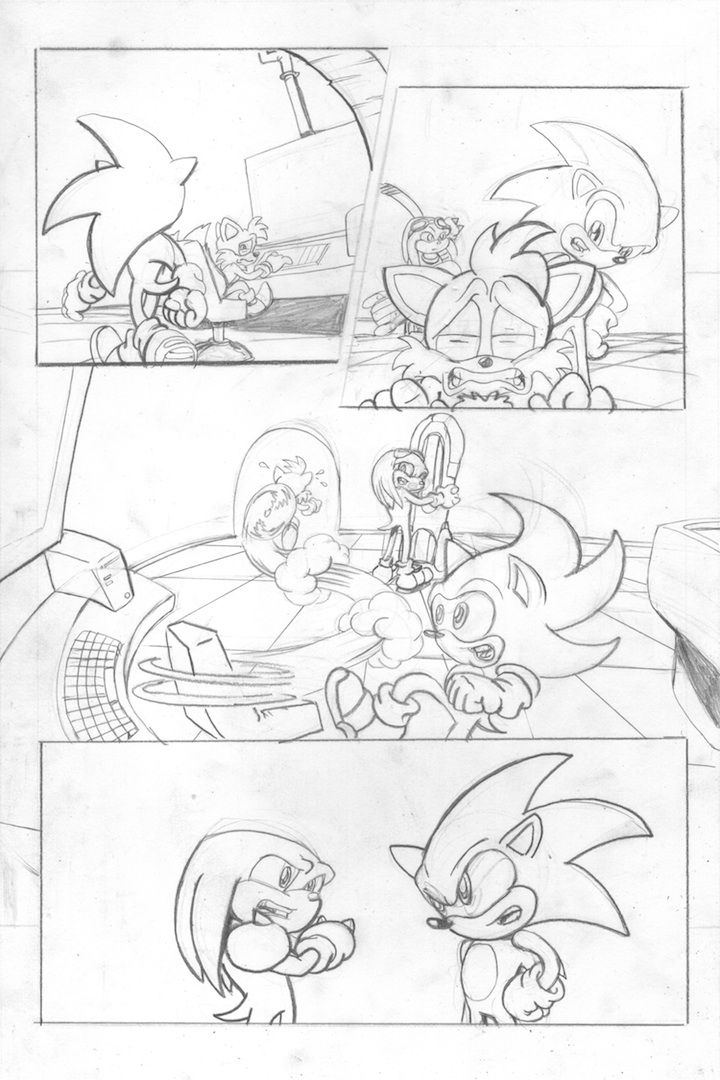 Sonic the Hedgehog Sample Page 3 by CarlChrappa