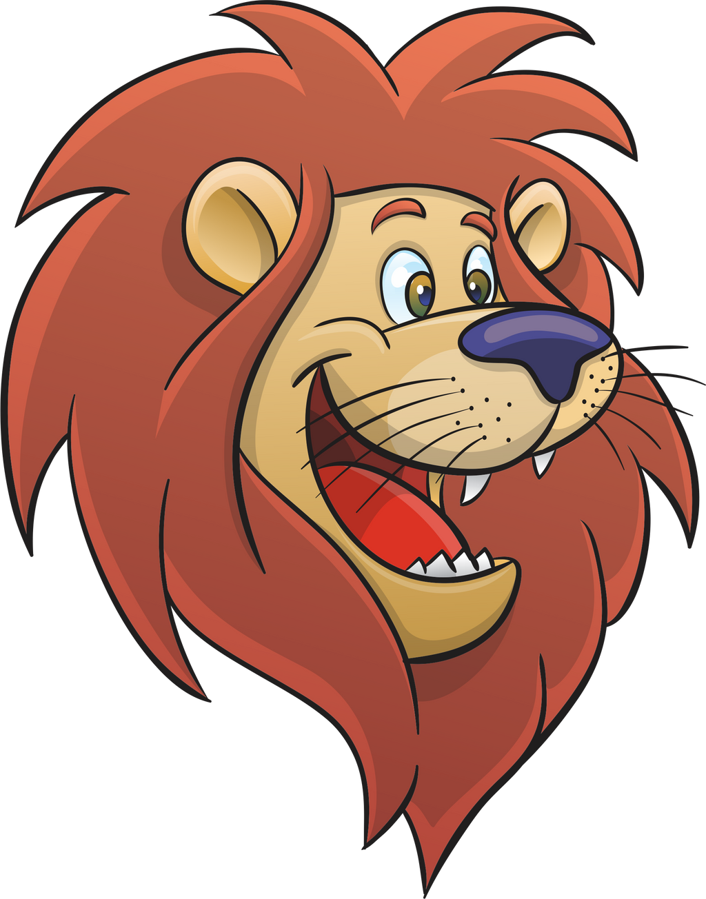 Cartoon lion face by alexmarques d47pewg