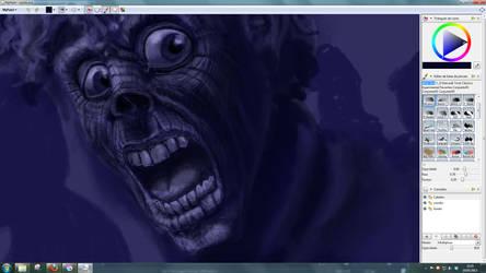 Zombie Art in progress by alexmarques