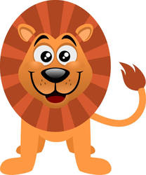 Basic lion in cartoon style by alexmarques