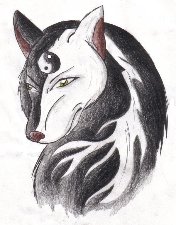 Yin Yang Wolf by gamer996 by gamer996 on DeviantArt