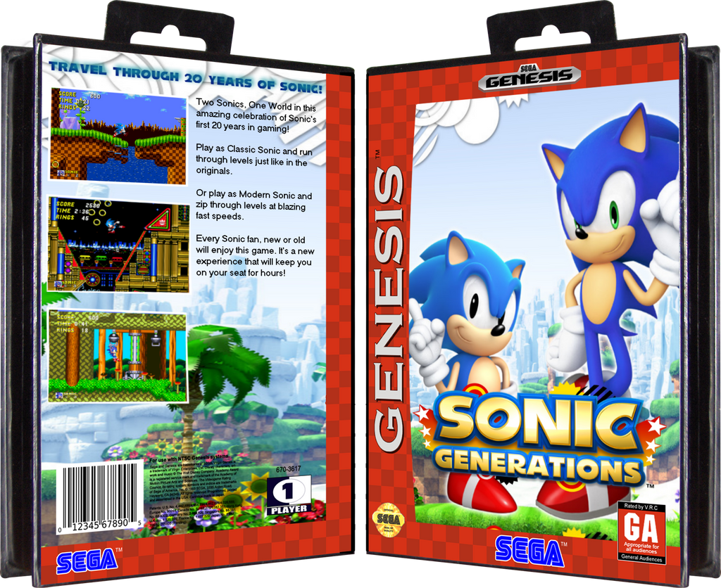 Sonic Generations on Sega Genesis by GenesisMasterDA on ...
