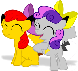 Bloom and Belle Happy (MLP)