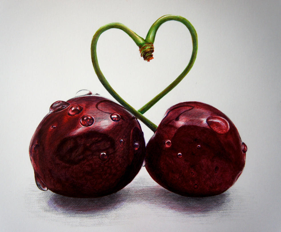 Cherry Love - Bics n Ballpoints by 6re9