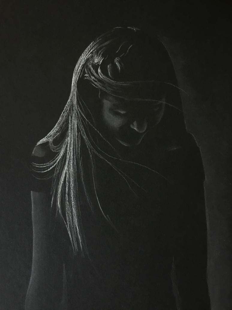 Low-key Portrait of M - Pastels by 6re9