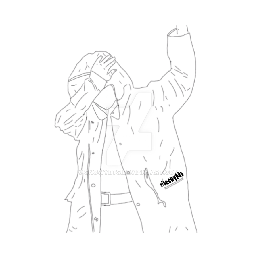 Line Art Kpop : Taehyung dab by snowybts on deviantart