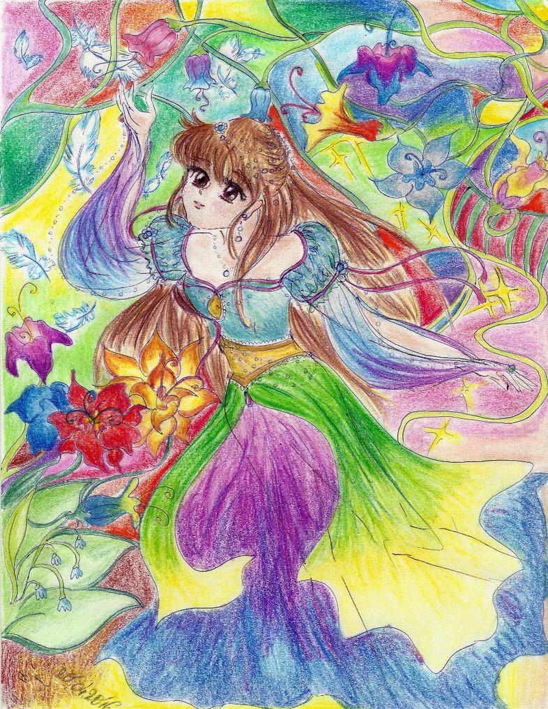 Rainbow spring by Usako-desu