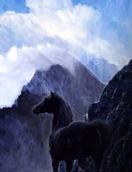 Black Unicorn by aaronace