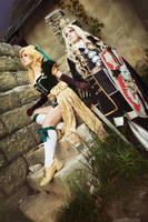 Castlevania Maria with Alucard by adelhaid