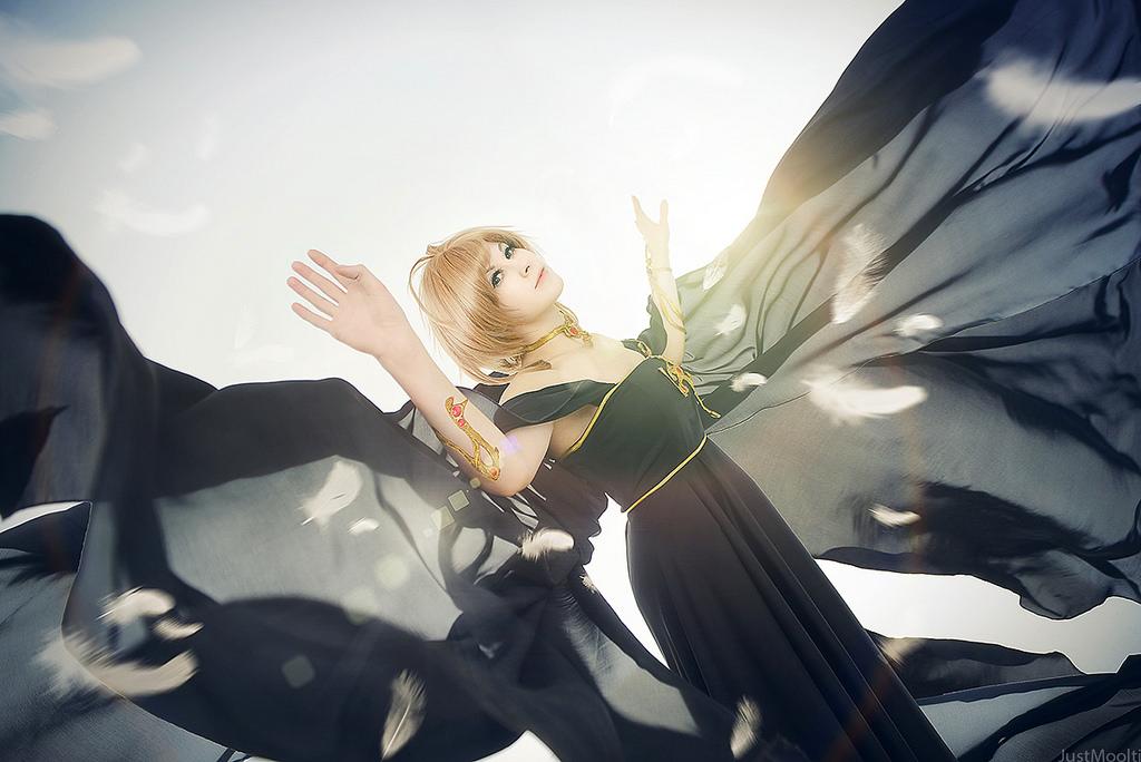 Black Dress for Sakura by adelhaid