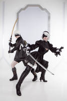 NieR: 2B and 9S by adelhaid