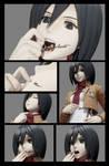 [Blender] Mikasa Eats Annie