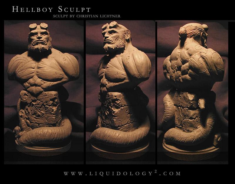Hellboy Sculpt by liquidology