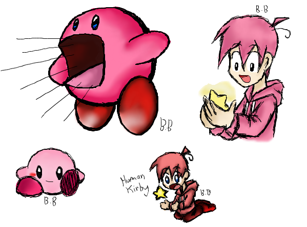 Kirby and Human Kirby by Doodlz18 on DeviantArt