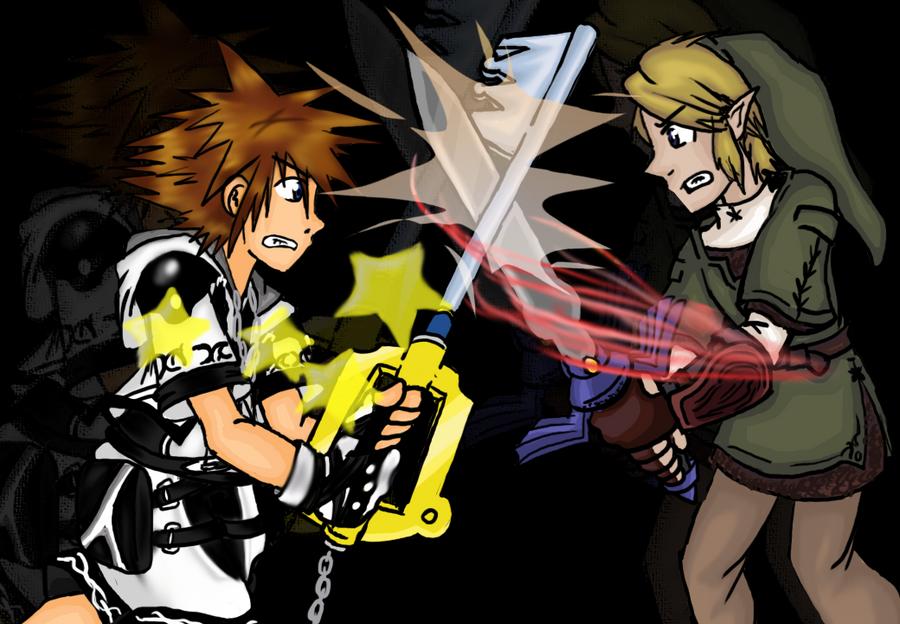 Sora Vs Link By Scarecrowsmainfan Deviantart Fondos De Pantalla