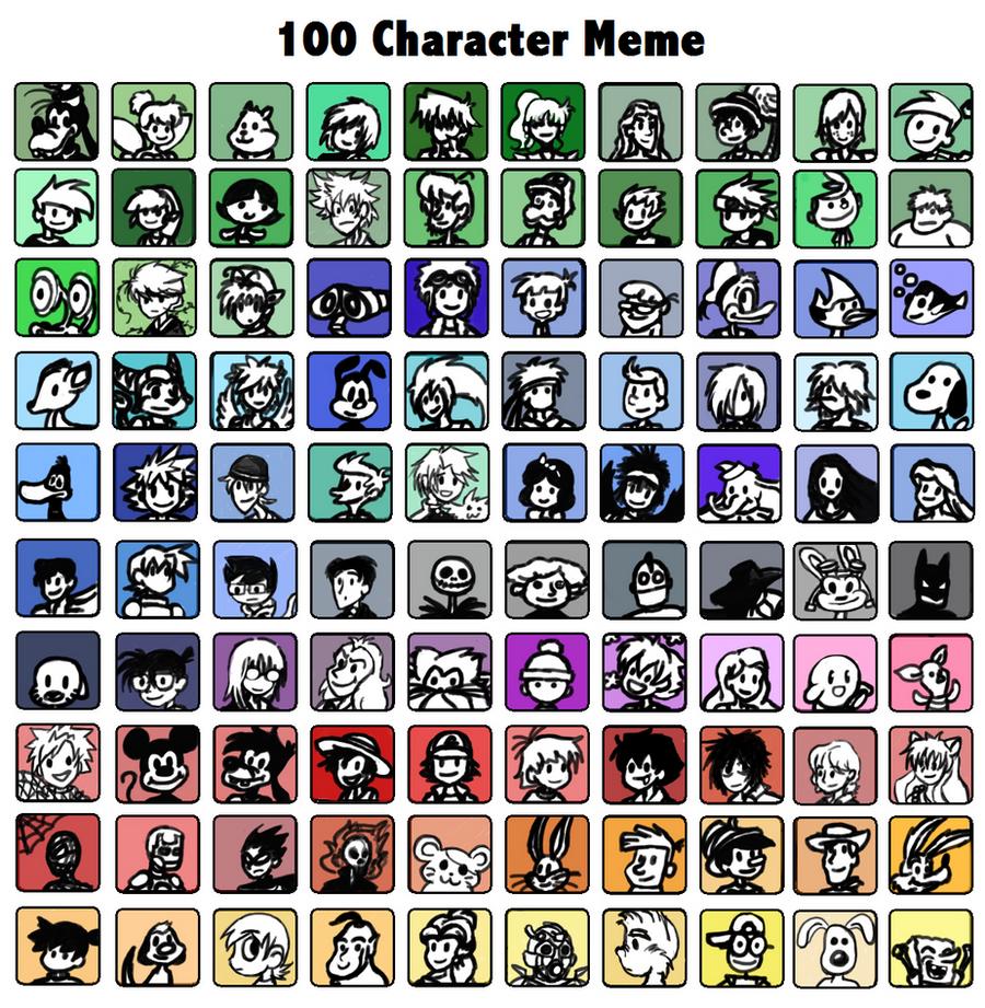 100 favs meme by Doodlz18
