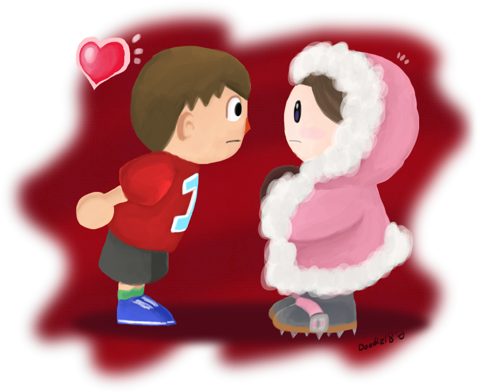 Boy in Red,Girl in Pink by Doodlz18