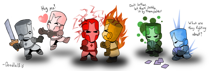 Castle Crashers_The 6 Knights by Doodlz18