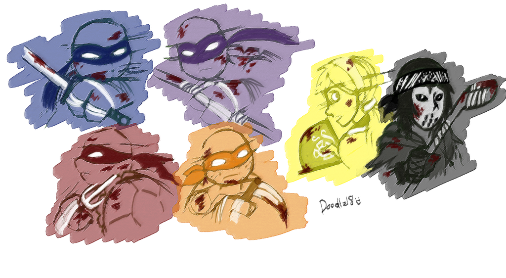 TMNT_colour roughs by Doodlz18