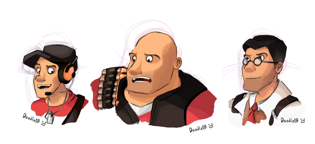TF2 Head Busts by Doodlz18