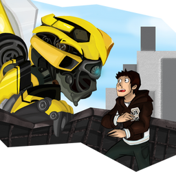 Robot Stare by Doodlz18