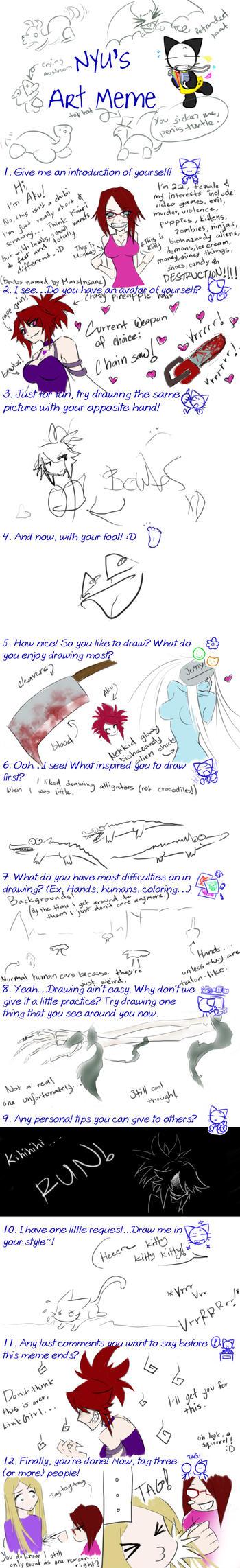 Nyu's Art Meme by Aku by aku-the-bunnyslayer