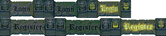 Marelore - Login and Register buttons by GoldenMech