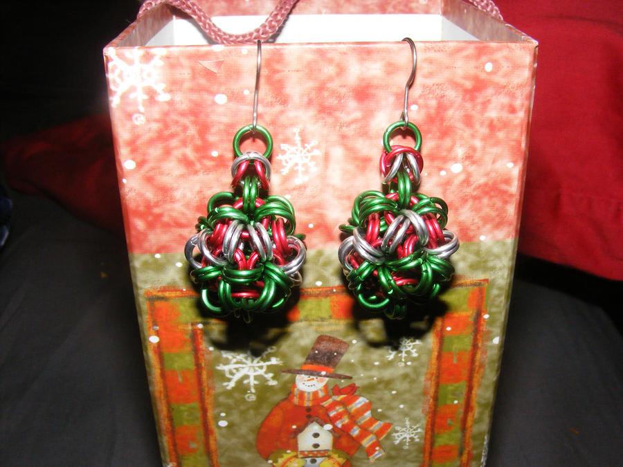Chain Ball Earrings - Design 2 by Chain-Jeweler