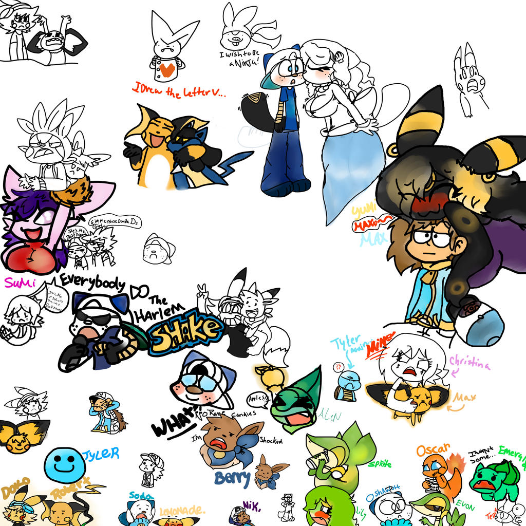 Random Drawings  by Pikachu84