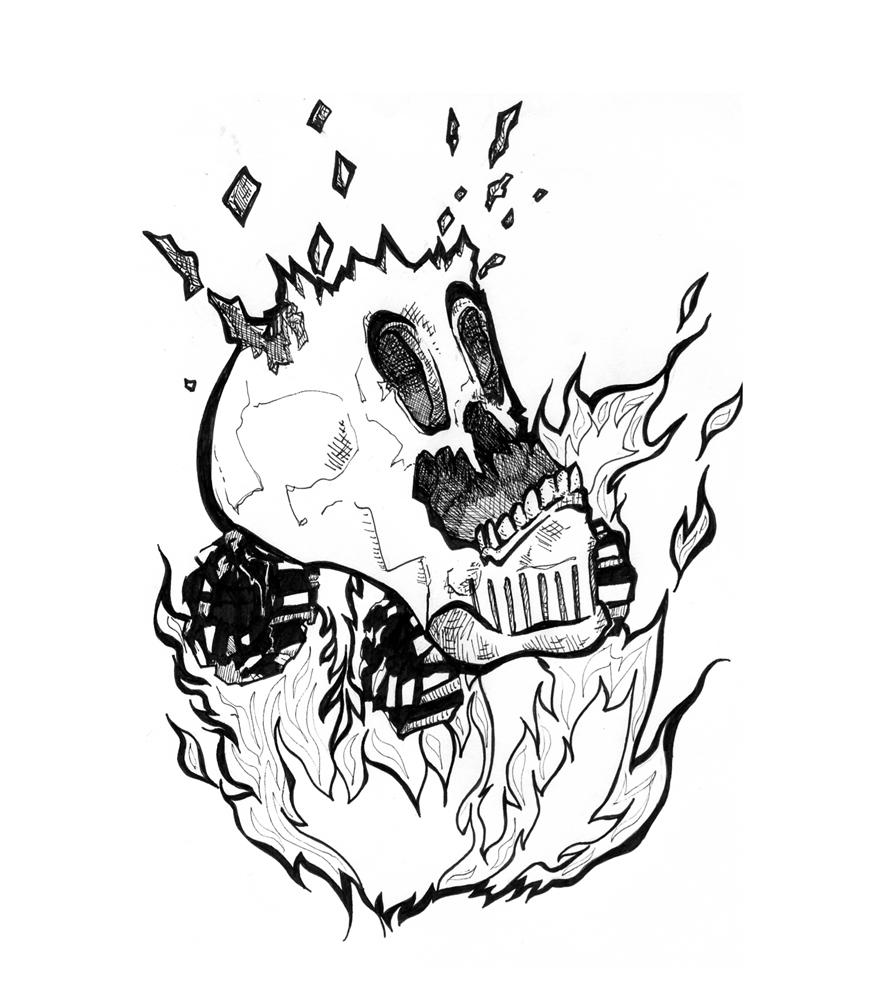 Monster Truck Skull Tattoo by SilkenTouch