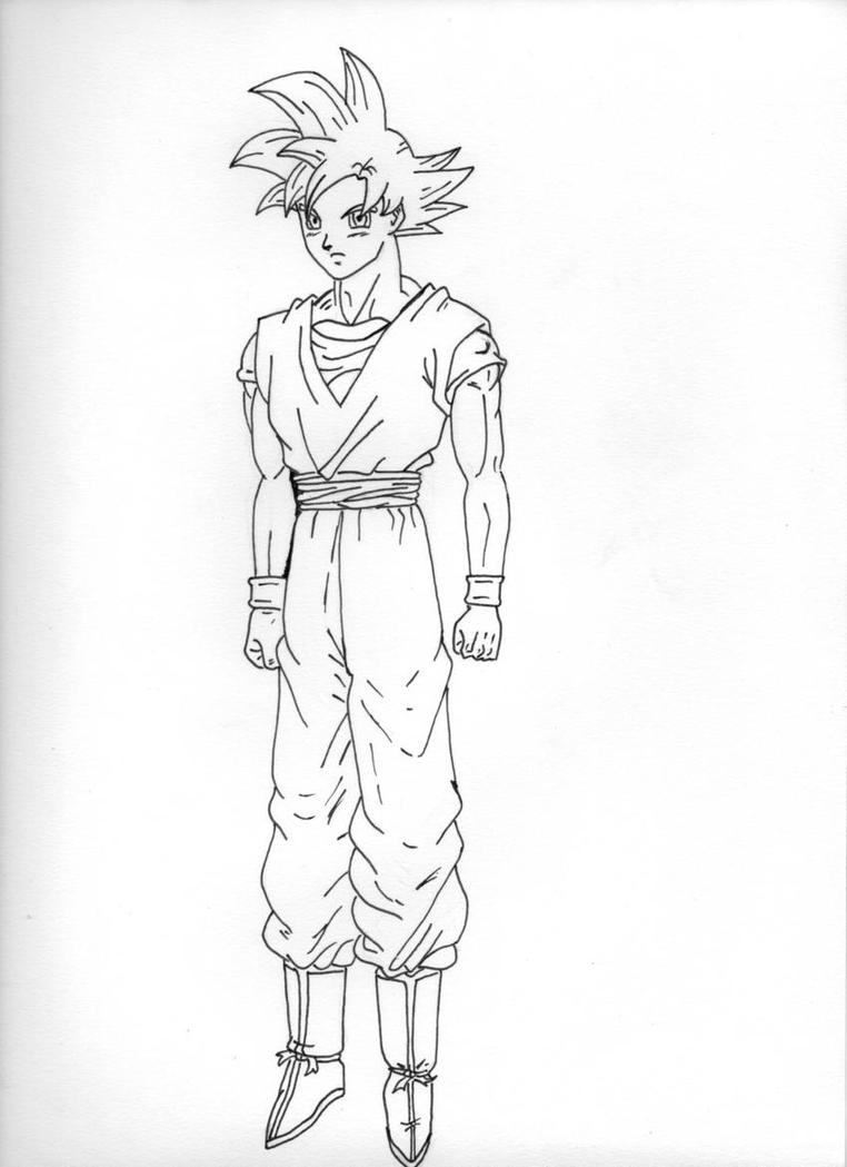 Goku Ssj God Lineart By Raphaelss On Deviantart Z Battle Of Gods Coloring Pages