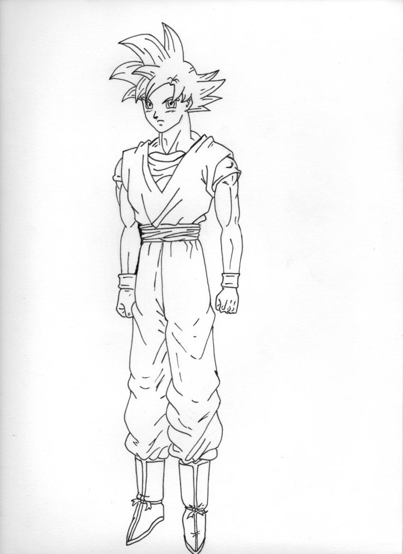 Goku Ssj God Lineart by raphaelss on DeviantArt