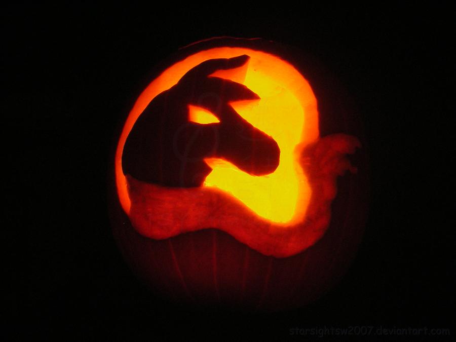 Llama pumpkin dark by starsightsw on deviantart