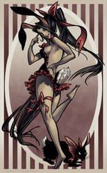 Easter Playbunny from Hell by QueenGwenevere