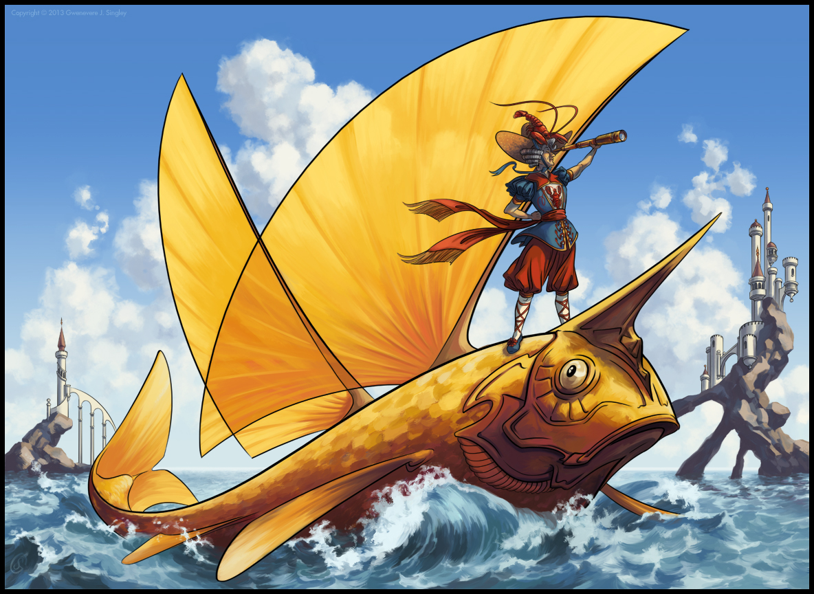 Queen Gwenevere Aboard the HMS Goldfish by QueenGwenevere