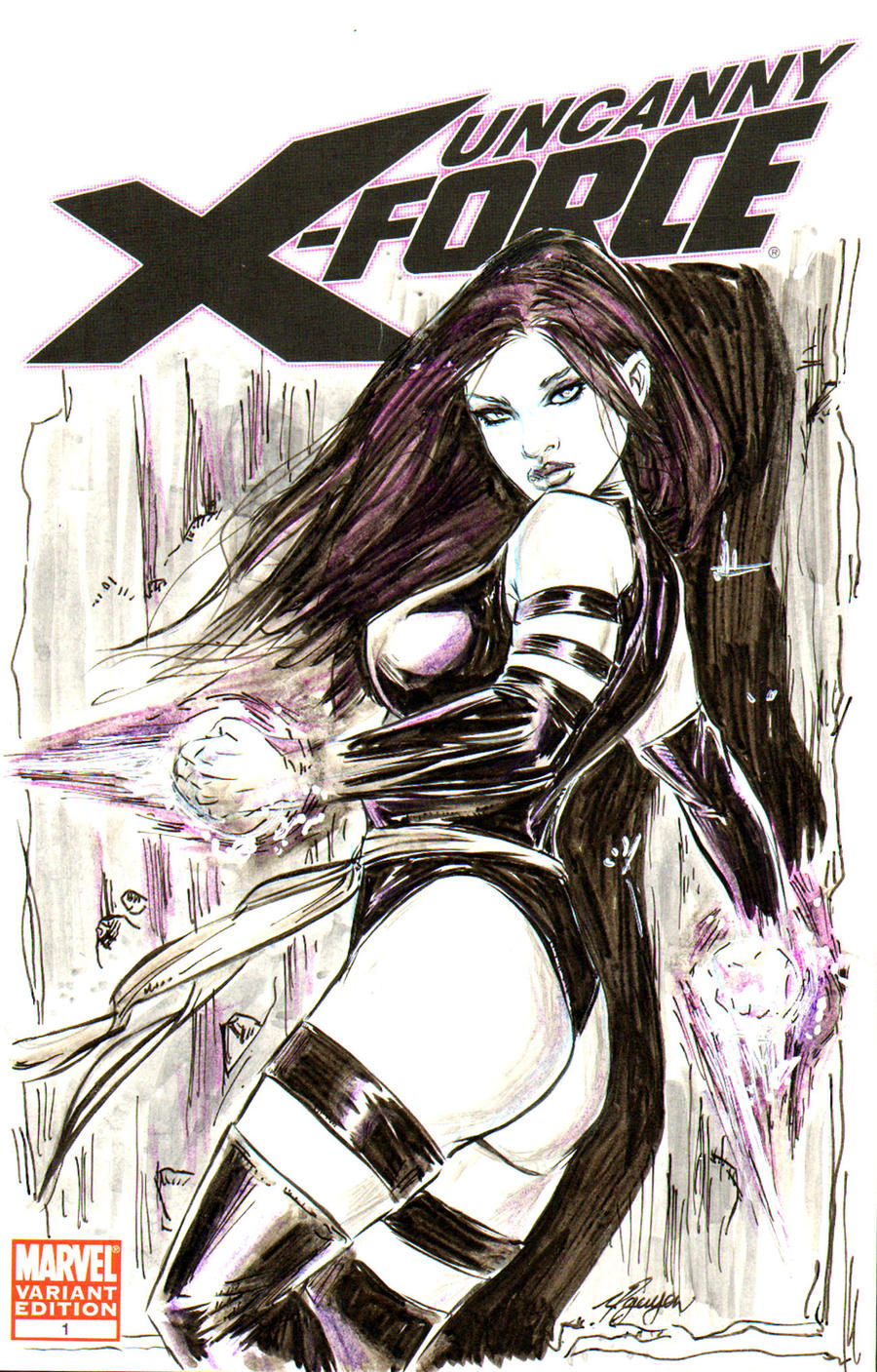 Psylocke X-Force by brokenluk